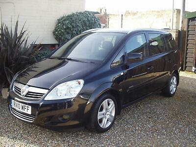 2010 VAUXHALL ZAFIRA 1.6i ENERGY PETROL MANUAL MPV / ESTATE (7 SEATER) LONG MOT