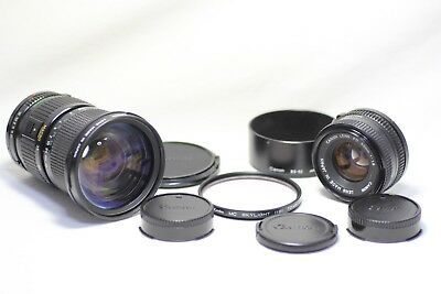 Lof ot 2 Canon New FD Zoom 35-105mm F/3.5 & 50mm F/1.8 MF Lens Made In Japan