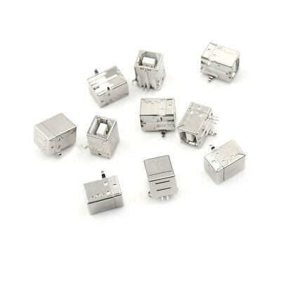 10PCS USB 2.0 Female Type-B Connector Replace Solder Port Pip ZB