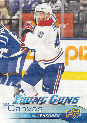 2016-17 Upper Deck Artturi Lehkonen Rc Young Guns Ud Canvas #c232 16-17