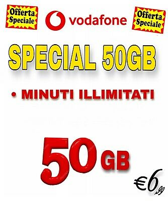 PASSA A VODAFONE Special MIN ILLIMITAT 50GB in 4.5 G TRE TIM WIND VIRTUALE