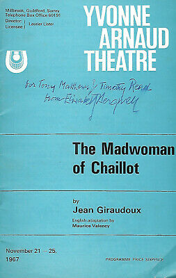 ELISABETH BERGNER in THE MAD WOMAN OF CHAILLOT Hand-signed 1967 programme