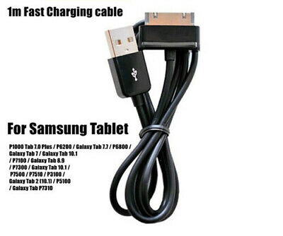Samsung Galaxy Tablet Tab USB Transfer Charger Cable 1 Meter Black Tab 30 Pin OZ