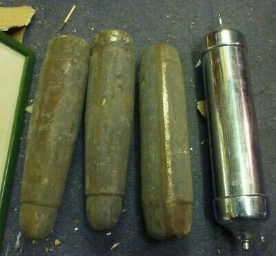 3 Original Iron Weight Inserts For Deco Grandfather Clock Brass Or Chrome Case