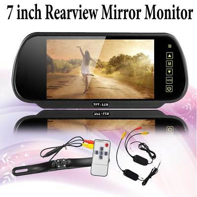 """Wireless Rear View Back up Camera IR Night Vision System+7"""" Monitor for RV Truck"""
