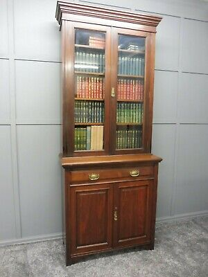 Edwardian Walnut Bookcase Circa 1900-1910