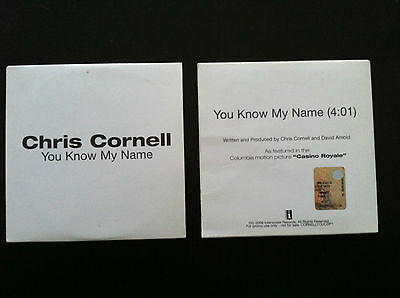 CHRIS CORNELL You Know my name RARE Promo cd single from CASINO ROYALE 007