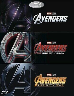 MARVEL AVENGERS Trilogy Box Set [Blu-ray] Complete 1-3 New and factory sealed