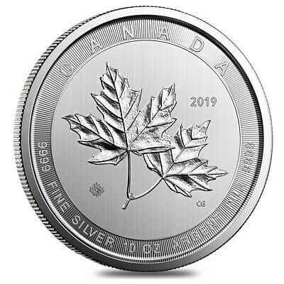 2019 10 oz Canadian Magnificent Silver Maple Leaf .9999 Fine $50 Coin BU (In