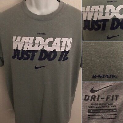 buy popular 61ad2 773b6 Kansas State Wildcats Nike Just Do It Dri-Fit Size Medium Shirt