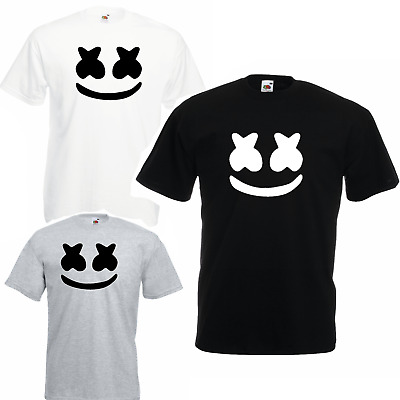 Marshmello T Shirt DJ Music Skin Game Gaming mens EDM Dance Festival Mask Vest