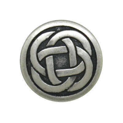 CELTIC KNOT METAL SHANK BUTTONS ANTIQUE SILVER 15mm 19mm 23mm