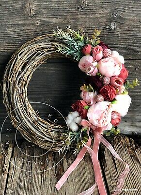 Artificial Flower Door Wreath Spring Wreath
