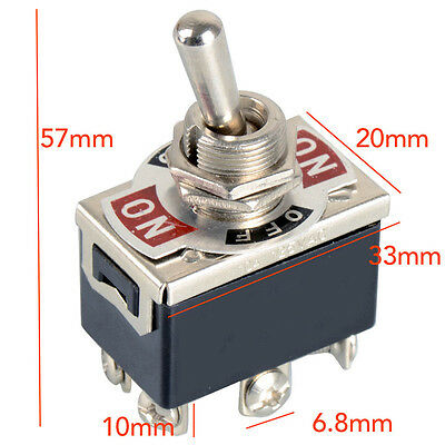 6 Pin Toggle Switches DPDT motor reverse on/off/on Polarity Motor DC Tool UK