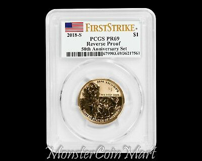 2018-S Reverse Proof Sacagawea Native American Dollar PCGS PR69 FIRST STRIKE