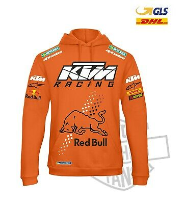 FELPA ENDURO KTM  RACING RED BULL SWEATSHIRT MOTO GP Motorex replica FAN sponsor