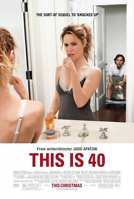 THIS IS 40 MOVIE POSTER 2 Sided ORIGINAL 27x40 PAUL RUDD LESLIE MANN