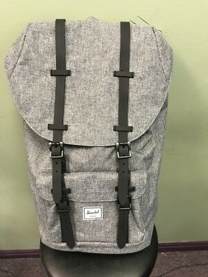 Herschel Supply Co. Little America Backpack Back Pack Raven Crosshatch  Black NEW a0a6154971efd