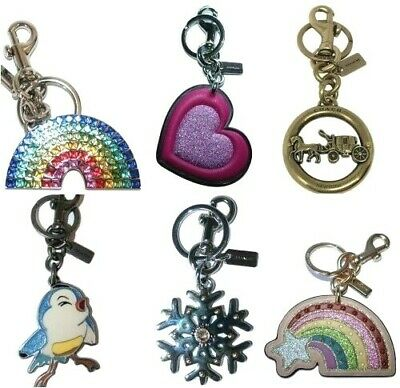 Coach Keychain Key FOB Key Ring Disney Snow White Bird Rainbow Snowflake Horse