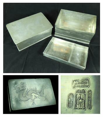 "c.1900 CHINESE ""KUT HING SWATOW"" PEWTER TEA CADDY, China - Large 9"" (230mm)"