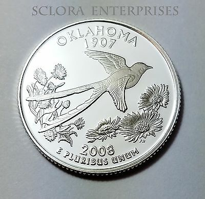 2008 S Oklahoma  *90% Silver Proof*  State Quarter   **free Shipping**