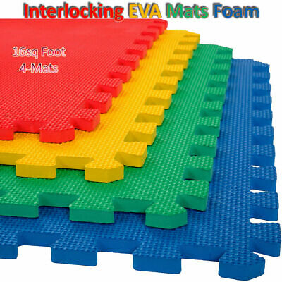 Large Kids EVA Foam Play Area Soft Mats Interlocking Tiles Exercise Gym Outdoor