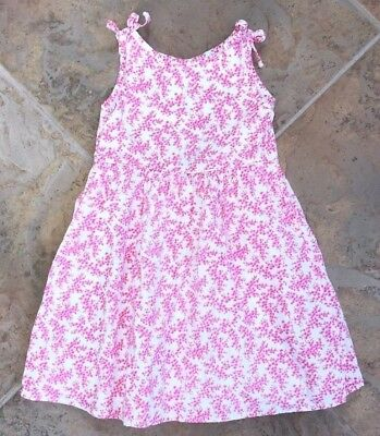 Baby Gap Vintage EUC 3 years Pink flower print lined dress ADORABLE !!