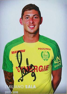 Emiliano Sala Reprint 8X10 Photo Signed Autographed Picture Man Cave Soccer Gift