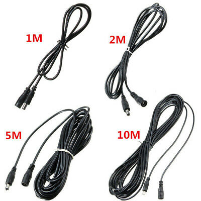 0.5M-5M DC 12V Power Extension Cable Cord Adapter For CCTV Cameras 5.5mmx2.1mm O