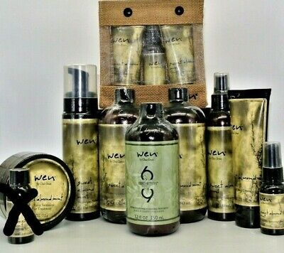 WEN by Chaz Dean Healthy Hair Care 90 Day Supply Set/Kit Lot Sweet Almond Mint