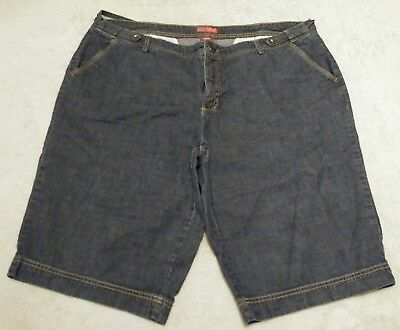 a631a73a94 Faded Glory Womens Plus Size 20W Shorts Blue Jean Denim 100% Cotton Casual  Long