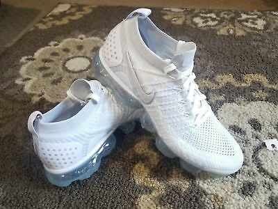 Nike Air VaporMax Flyknit 2 Mens Size 15 Pure Platinum White Grey 942842 105