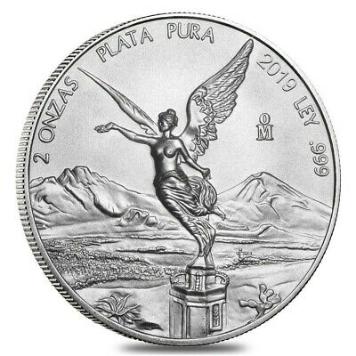 2019 Mexico Libertad 2 oz .999 Silver Round Very Limited AG-47 Bullion BU Coin