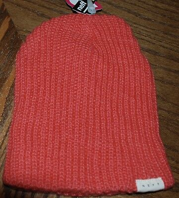 911814adc50 NEFF BEANIES WOMENS Brie Textured Beanie Coral One Size -  5.10 ...