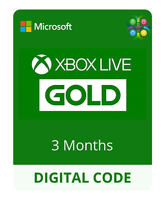 3 Month Xbox Live Gold Membership - XBOX ONE / XBOX 360