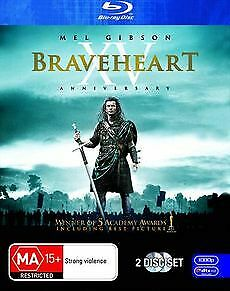 BRAVEHEART New Blu-Ray (2 Disc) MEL GIBSON ***