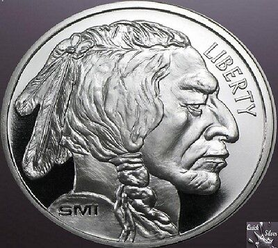 1 oz Sunshine Mint Buffalo Silver Round **.999 fine & with MintMark SI**