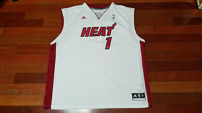 96e89faa867 Vtg mens Adidas Miami heat Chris Bosh CB1 basketball jersey sz 3XL NBA white