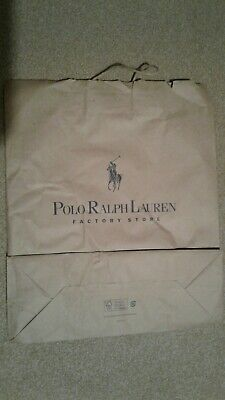 Polo Ralph Lauren 48x40cm Shopping Paper Carrier Bag Collectable Gift Bag 88b6c931fb7bf