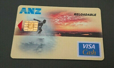1996 Visa Cash Card - Reloadable - Anz Bank In House Trial - Surfer - Rare