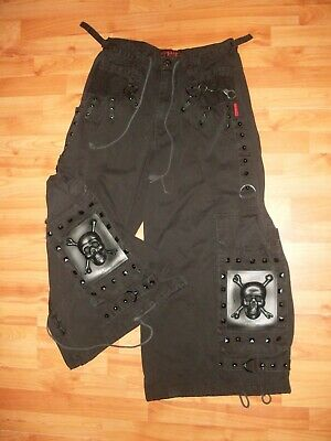 b5a872b39a TRIPP NYC Men s Med 33X30 Black Pants Goth Rave Skulls Studs Wide Leg HOT  TOPIC