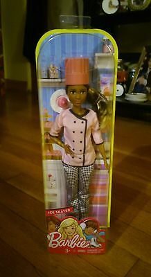 RARE~VARIANT~2016~Afro-American~Barbie~ CUPCAKE CHEF~Packaged as ICE SKATER
