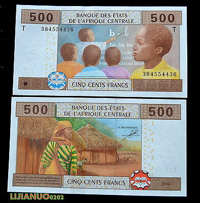 CENTRAL AFRICAN STATES (T) CONGO 500 Francs 2002 UNC WAHRUNG BANKNOTE CURRENCY