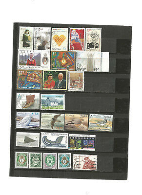 25 briefmarken norwegen  (25 timbres de norvege) lot   08052018 rda bm 444