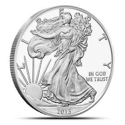 2015 UNCirculated Silver Eagle 1 oz .999 fine silver fresh from mint container
