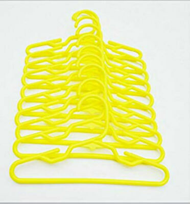 10 PC Yellow Doll Hangers Fits 18 Inch American Girl Doll Clothes