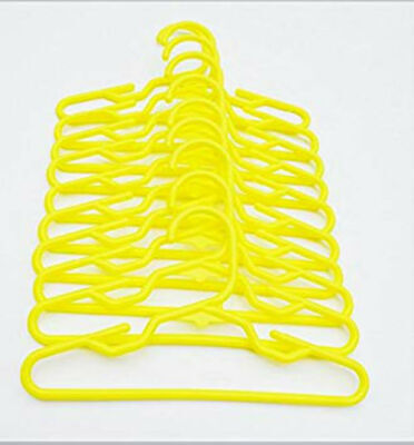 10 Plastic Yellow Doll Hangers Fits 18 Inch American Girl Doll Clothes