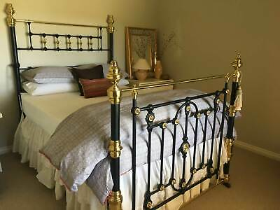 Bed Brass Antique Double
