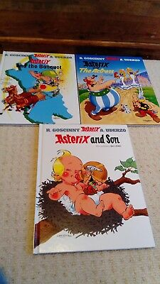 Asterix and the Actress, and the Banquet, and Son. Hardback Job lot. *VGC*