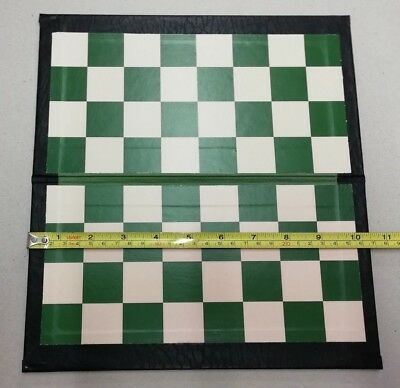New Leather bound Folding Chess Board for Smaller Chess Sets